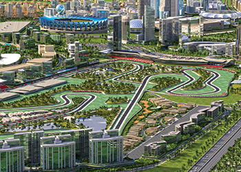 A perspective of MotorCity ... new masterplan.