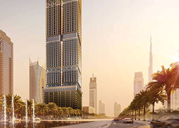 Dubawi .. the new skyscraper will rise on Sheikh Zayed Road.