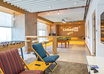 The LinkedIn Dubai office ... Perkins+Will leaves its mark.