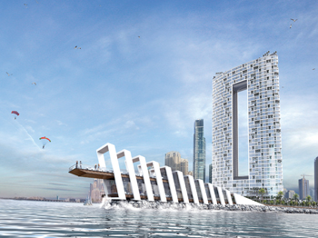 The building will be the tallest tower on Jumeirah Beach Walk skyline.