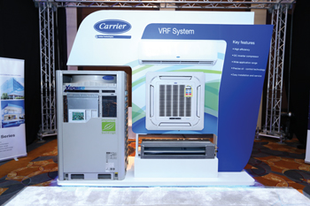 A VRF system from Carrier ... high-efficiency solution.