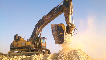 The BF150.10 ... the largest crusher bucket in the world.