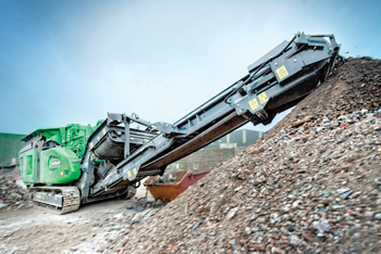 The Cobra 230 impact crusher ... 'unmatched versatility'.