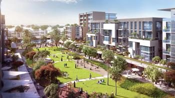 Meydan One district ... to host the Azizi Riviera waterfront project.