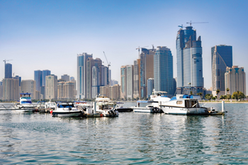 Sharjah skyline ... demand for high-end residential properties has gone up.