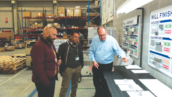 Officials from BECT and Conserv tour Reynaers' Belgium headquarters.
