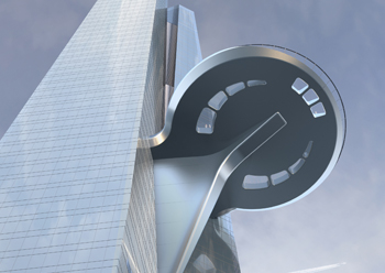 Jeddah Tower  ... the skyscraper's unique, circular, glass-floored sky terrace will also be supplied by Guardian Glass.