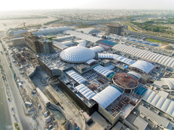 The Avenues mall ... features the largest unsupported ETFE/steel dome in the GCC with a diameter of 70 m.